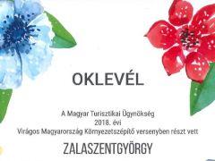 Zalaszentgyörgy település a Virágos Magyarországért versenyen